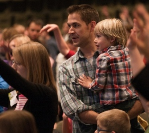 young families in worship