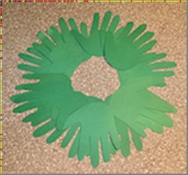 advent hands wreath