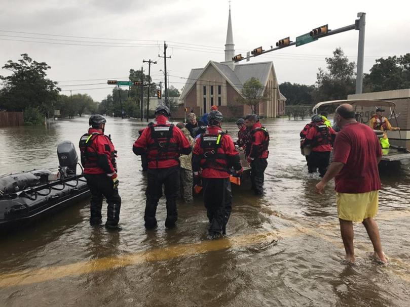 Salem in Houston flooded
