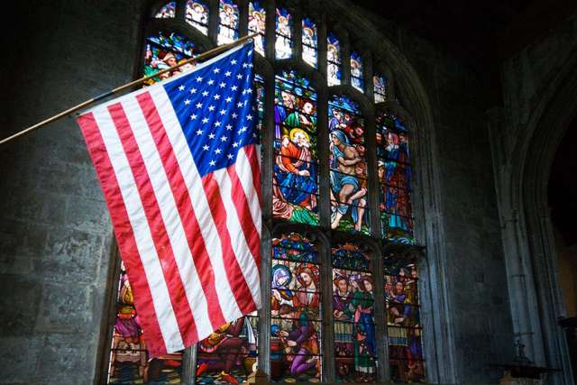 american-flag-in-church